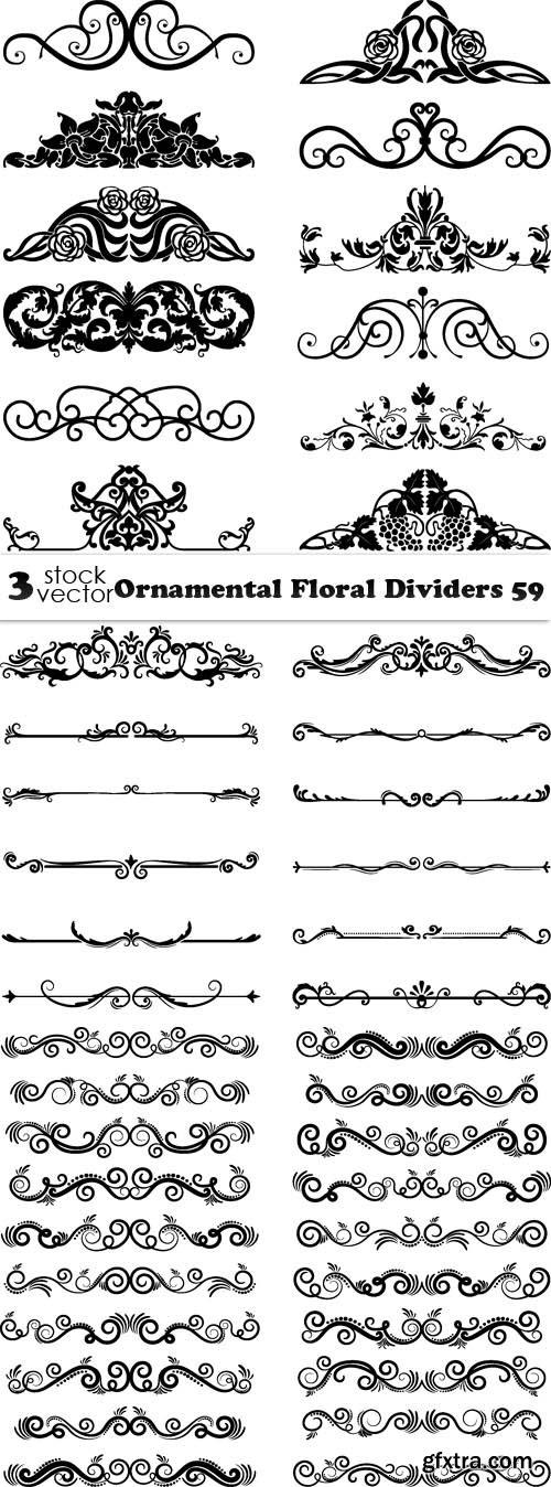 Vectors - Ornamental Floral Dividers 59