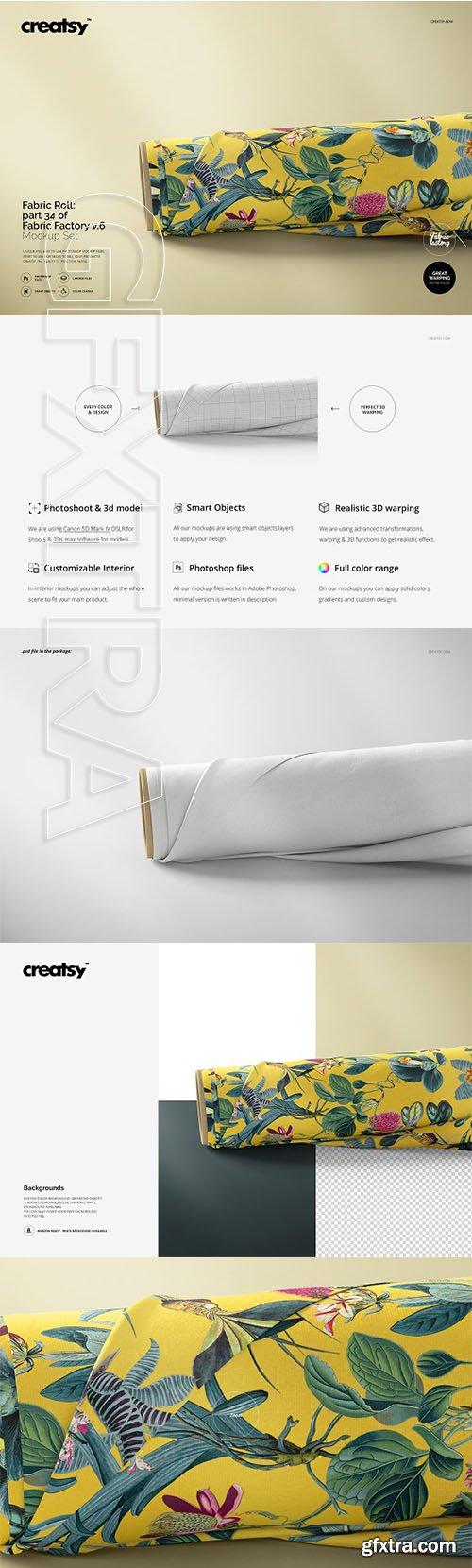 CreativeMarket - Fabric Roll Mockup 34 FF v6 3328565