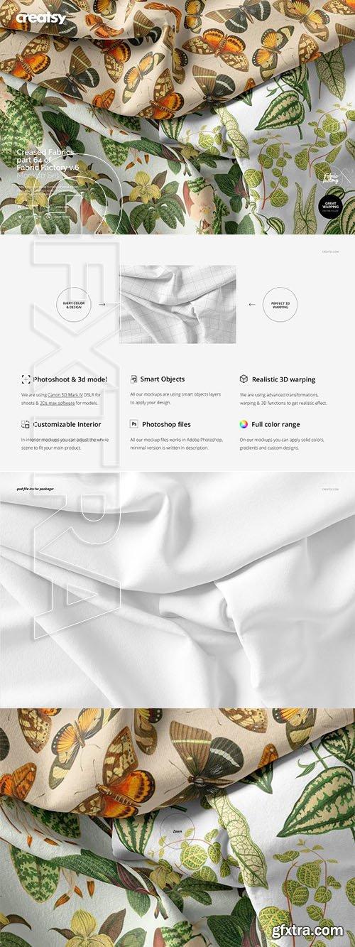 CreativeMarket - Creased Fabrics Mockup 64 FF v6 3331953