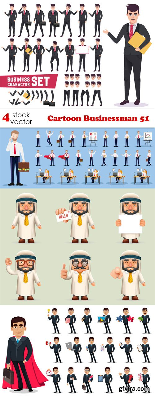 Vectors - Cartoon Businessman 51