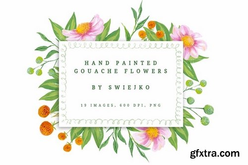Romantic Gouache Flowers