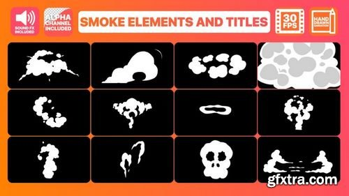 MotionArray Smoke Elements And Titles 165383