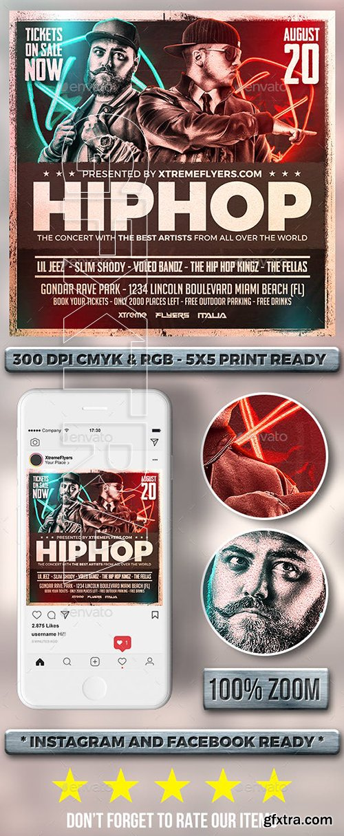 CreativeMarket - Concert Flyer Template 3386945