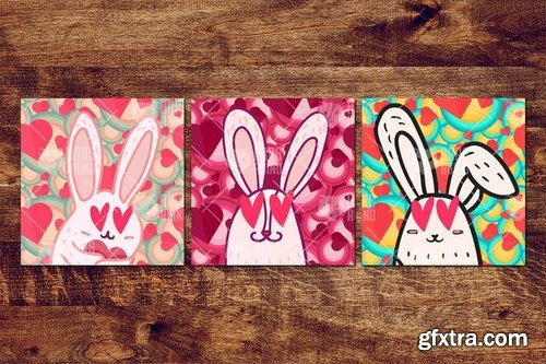 St. Valentine\'s Day With Loving Rabbits