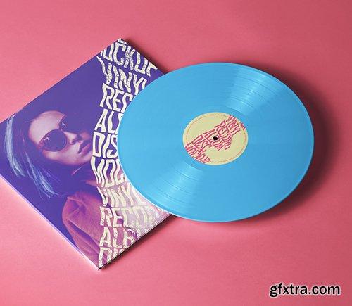 Psd Vinyl Record Disc Mockup