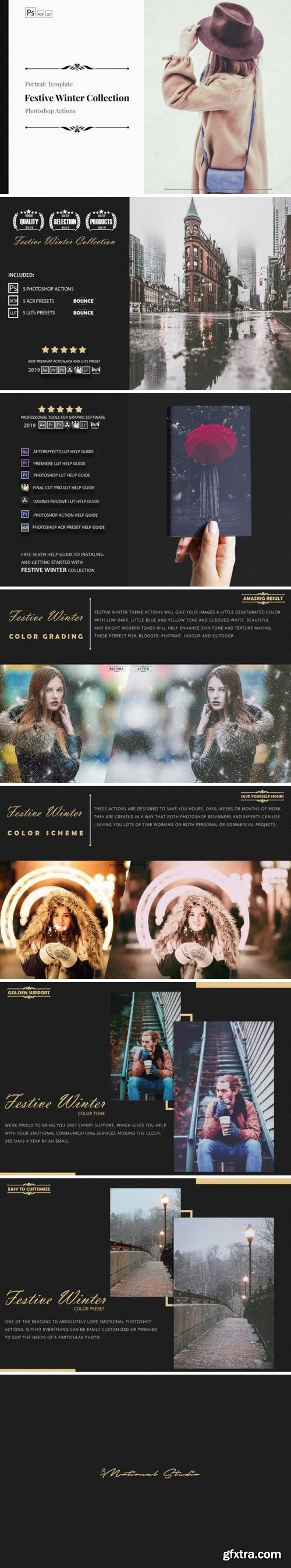 Thehungryjpeg - Neo Festive Winter Story Color Grading photoshop actions 3524674