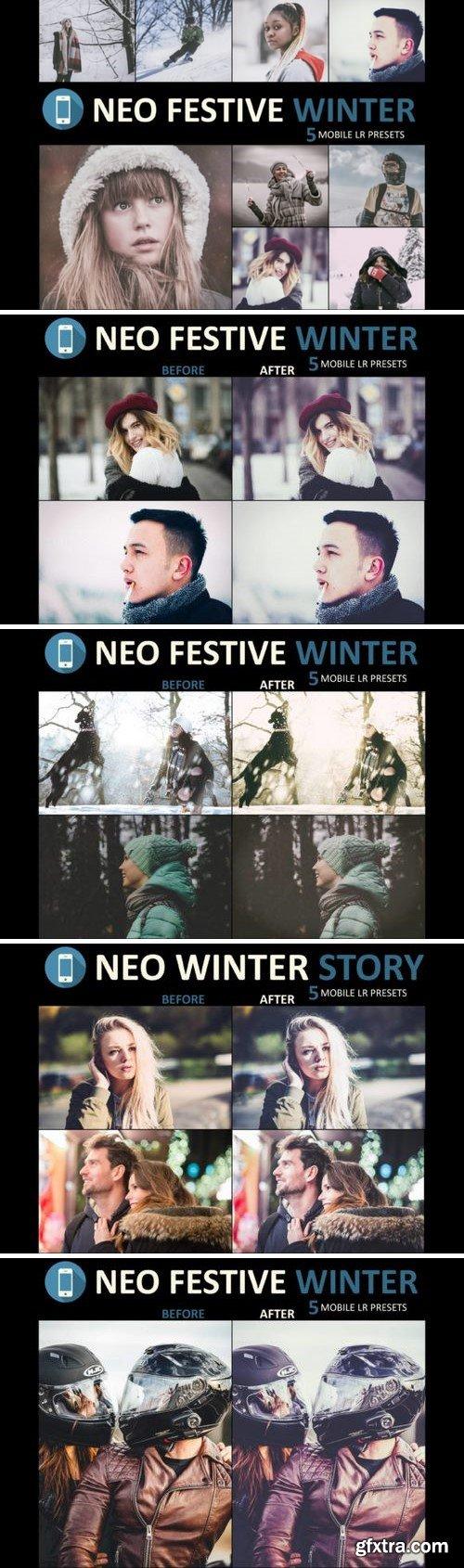 Thehungryjpeg - Neo Festive Winter Story mobile lightroom presets 3524678