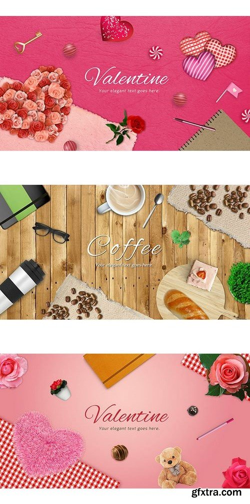 Valentine and Coffee Scene Generators Bundle