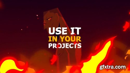 Videohive Cartoon Fire FX 23012383