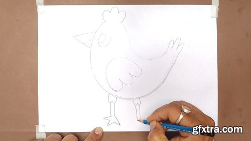 How to draw birds in easy way step-by-step