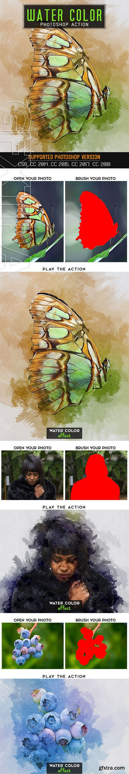 GraphicRiver - Water Color Photoshop Action 23101869