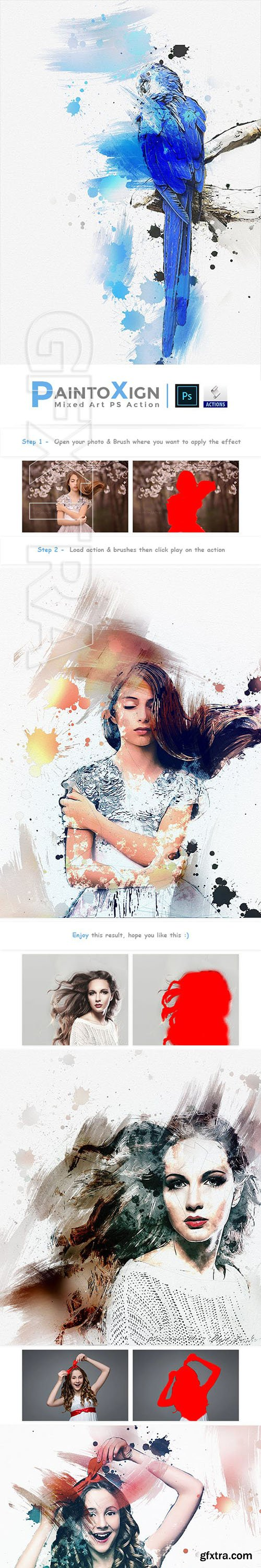 GraphicRiver - PaintoXign Mixed Art PS Action 23106638