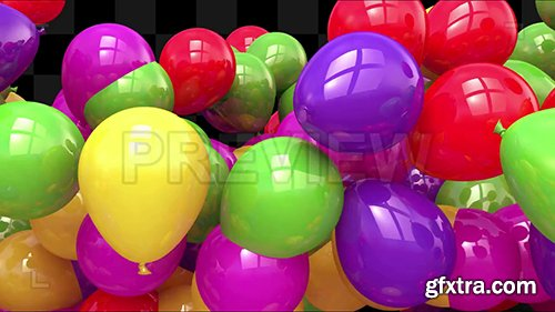 Party Balloons Text Reveal Template 135106