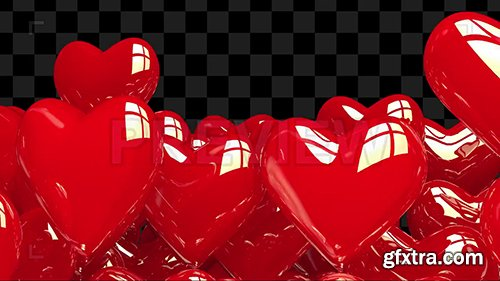 Heart Balloons Text Reveal Template 135765