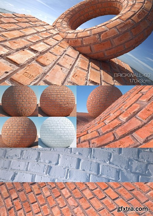 Brick Wall 03 PBR Textures
