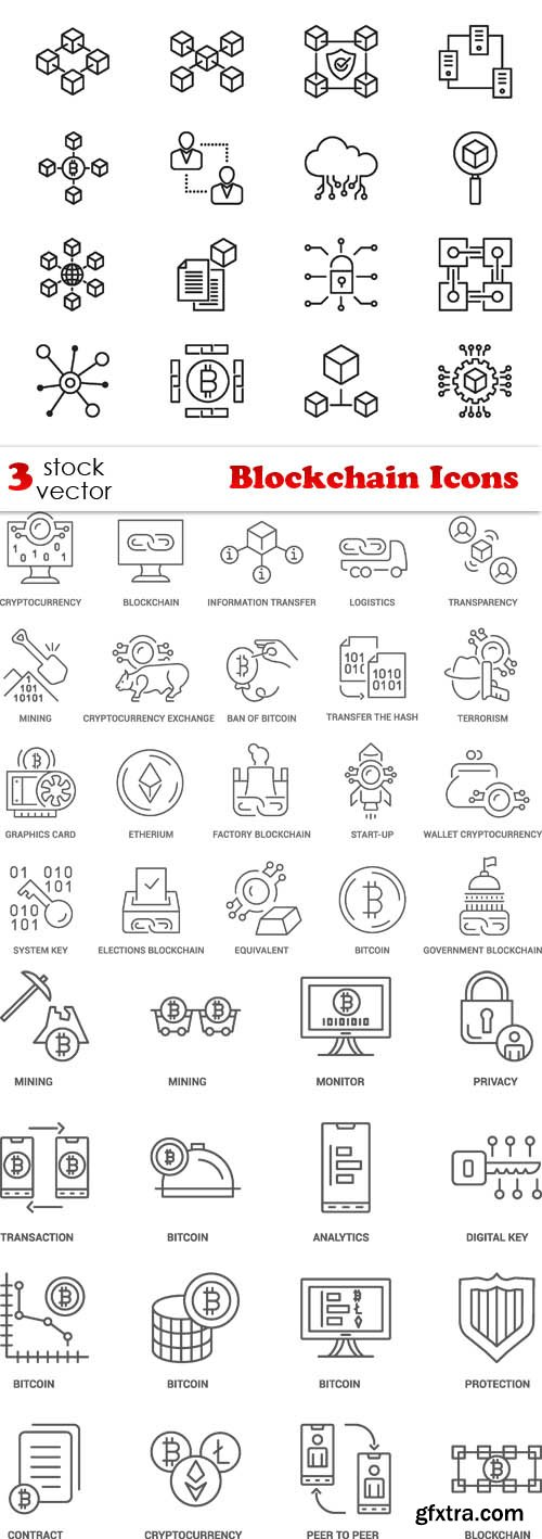 Vectors - Blockchain Icons