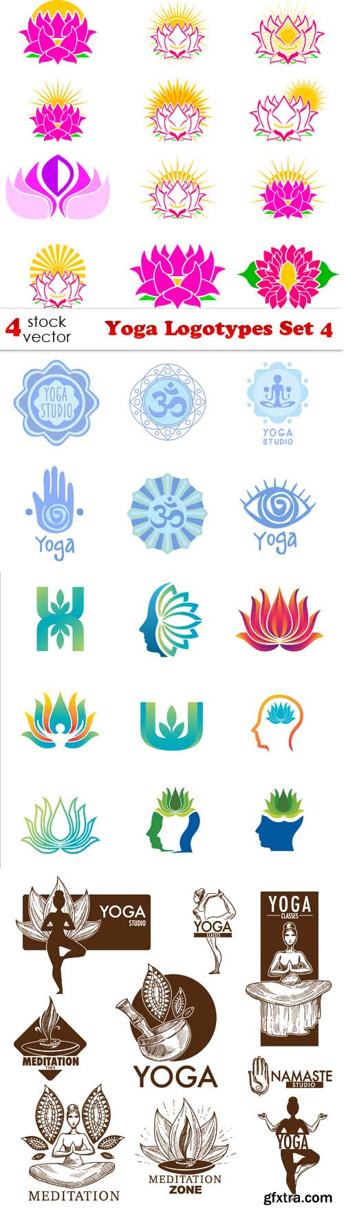 Vectors - Yoga Logotypes Set 4