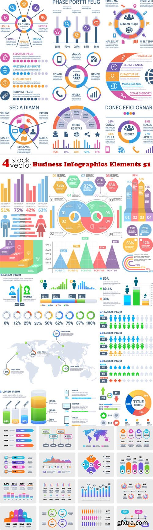 Vectors - Business Infographics Elements 51