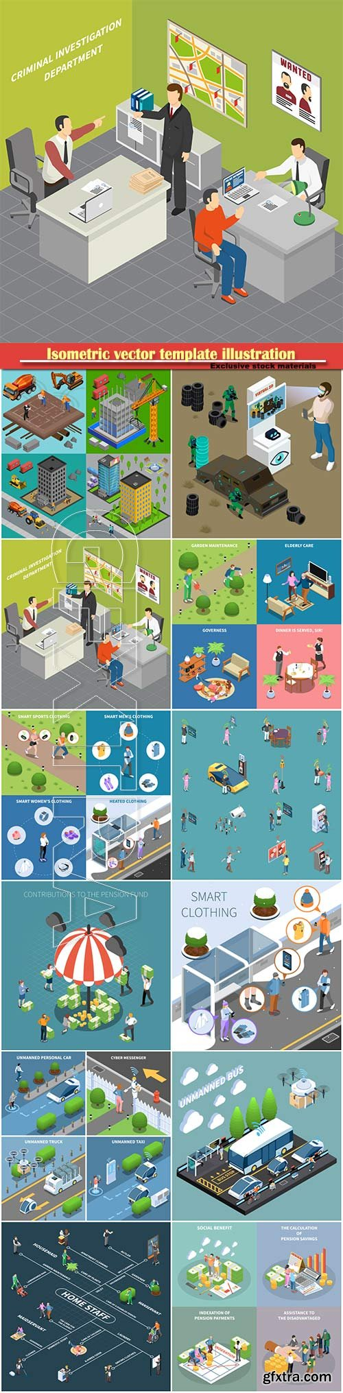 Isometric vector template illustration # 13