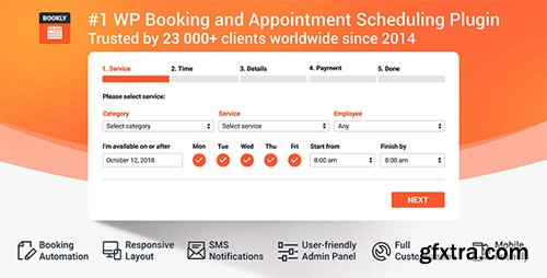 CodeCanyon - Bookly PRO v16.7 - Appointment Booking and Scheduling Software System - 7226091