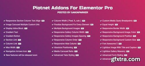 Piotnet Addons For Elementor Pro v2.9.1 - NULLED