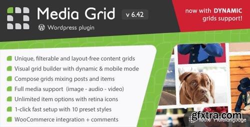 CodeCanyon - Media Grid v6.42 - Wordpress Responsive Portfolio - 2218545