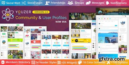 CodeCanyon - Youzer v2.1.9 - Buddypress Community & Wordpress User Profile Plugin - 19716647