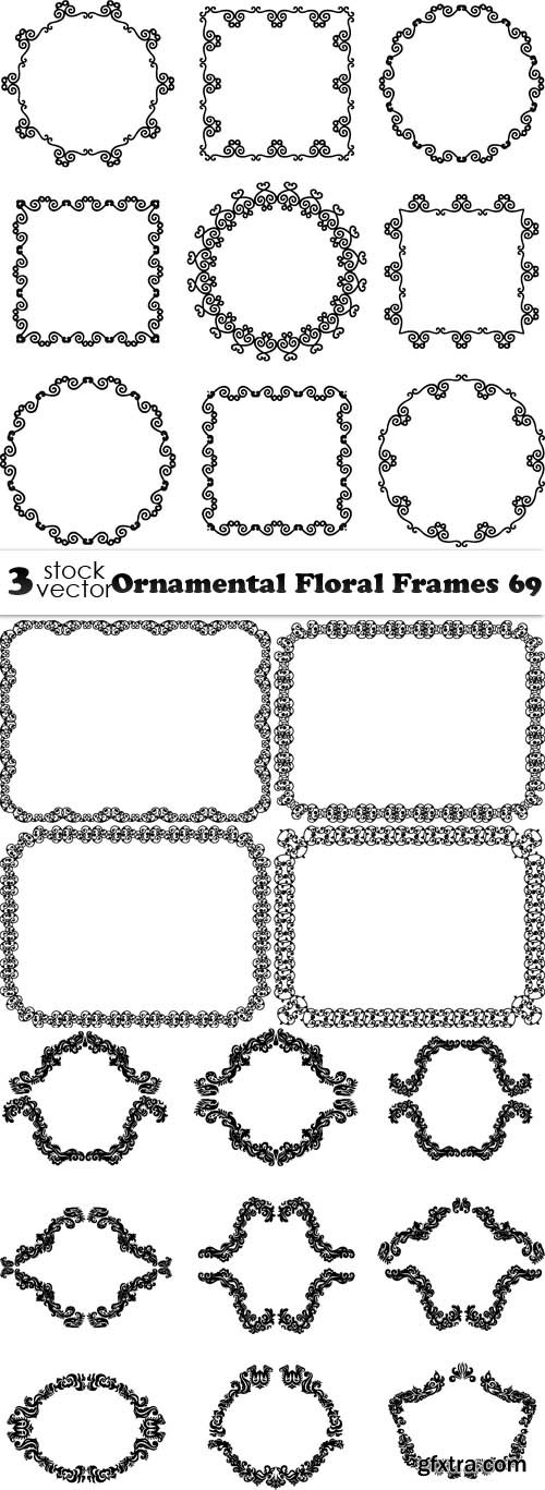 Vectors - Ornamental Floral Frames 69