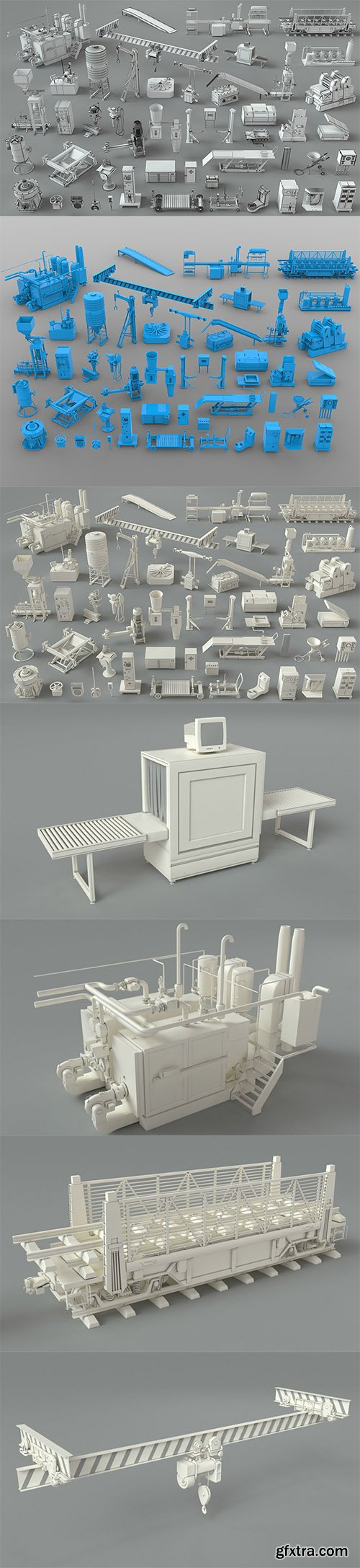 Cgtrader - Factory Units-part-3 - 49 pieces 3D model