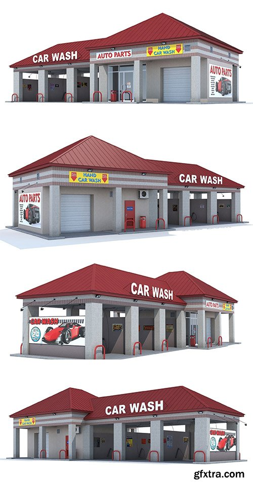 Cgtrader - Car Wash 3D model