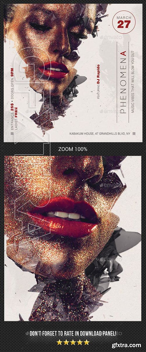 GraphicRiver - Phenomena Party Flyer 23148168