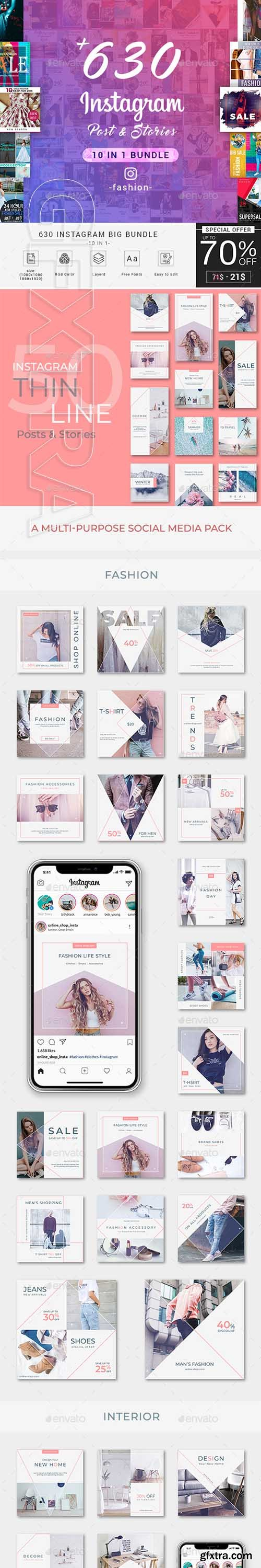 GraphicRiver - Fashion Instagram Bundle Social Media 23149117
