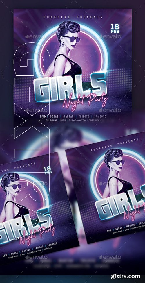 GraphicRiver - Girls Night Party Flyer 23151131