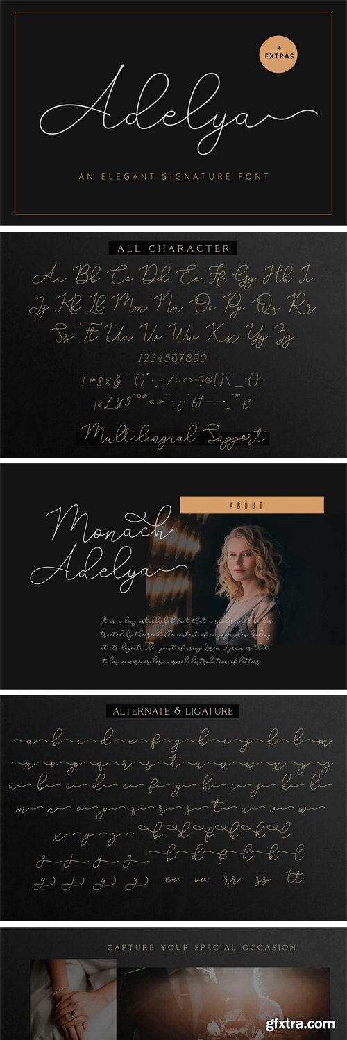 CM - Adelya - Elegant Signature Font 3389374