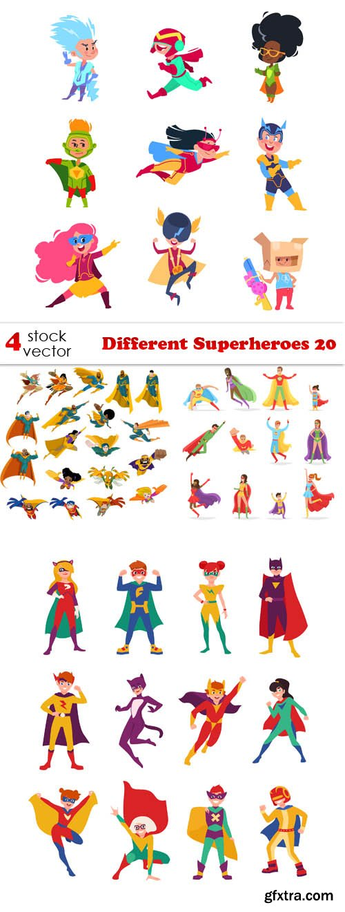 Vectors - Different Superheroes 20