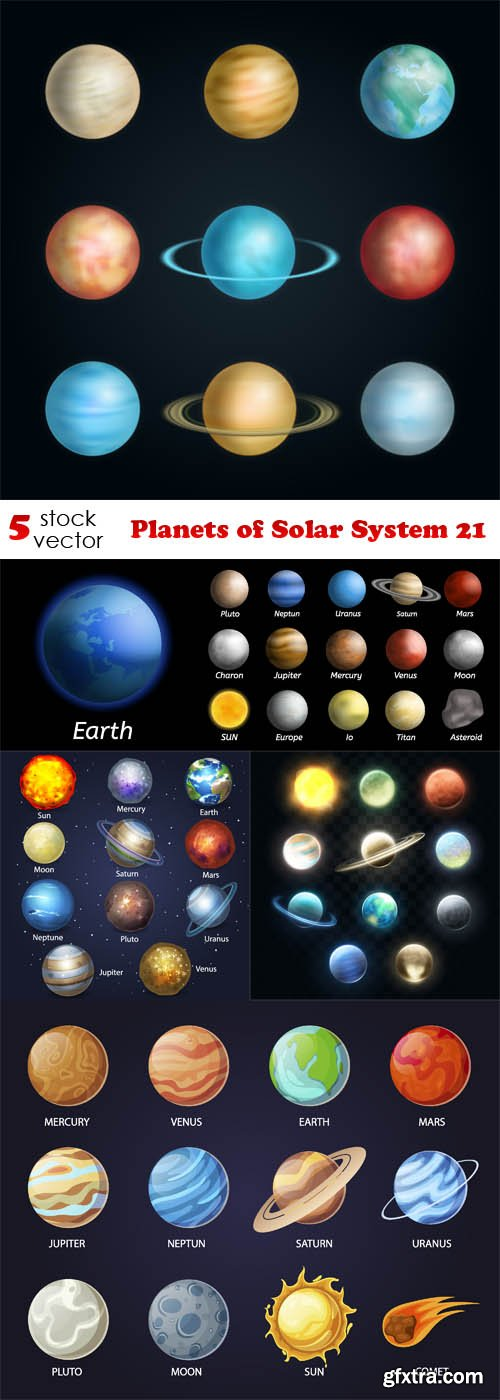 Vectors - Planets of Solar System 21