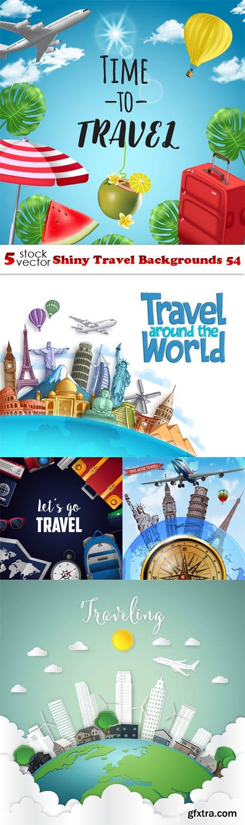 Vectors - Shiny Travel Backgrounds 54