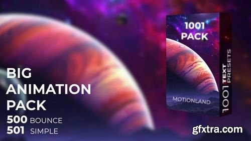 MotionArray 1000 Text Animation Presets 165594