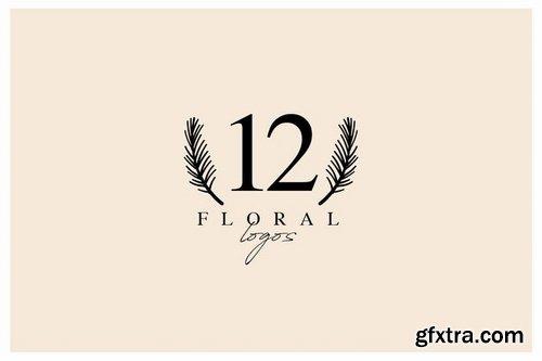 12 Floral Logos