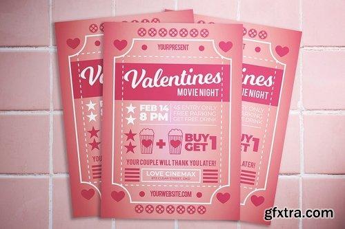 Valentine Movie Night Flyer