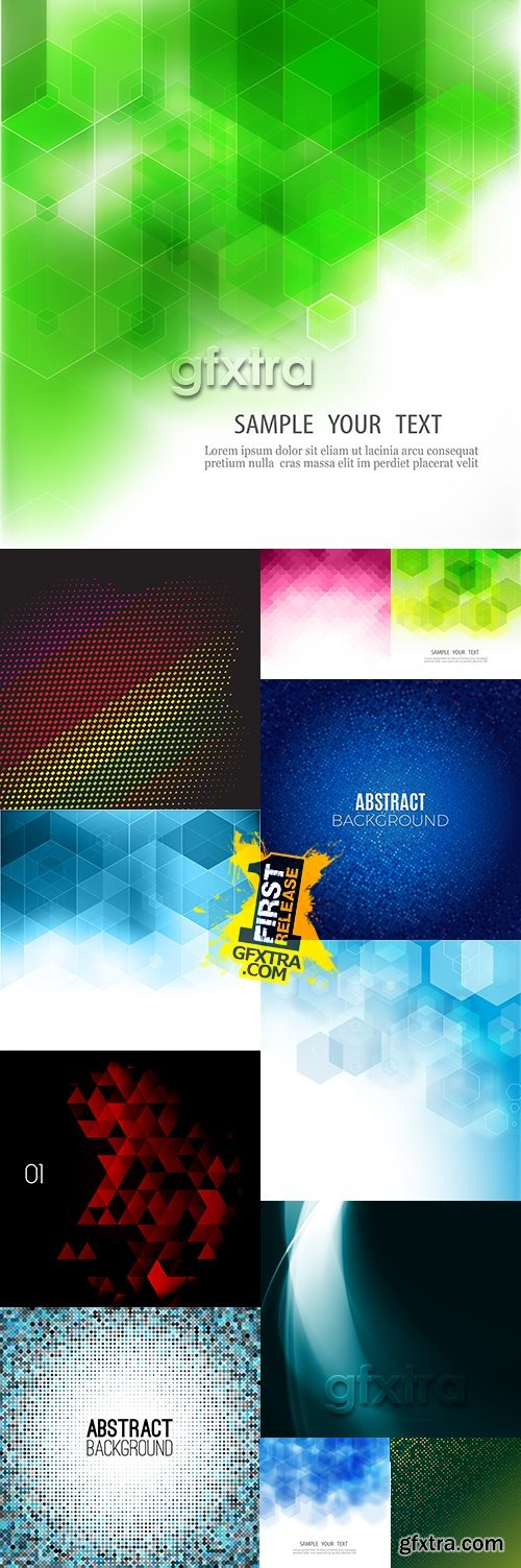 Modern colourful abstract geometrical shape background 5