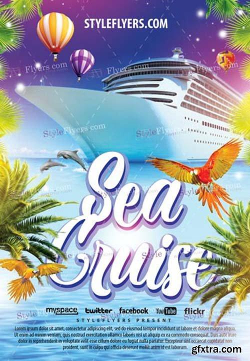 Sea Cruise V1 2019 PSD Flyer Template