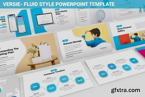 Versie - Fluid Style Powerpoint Template