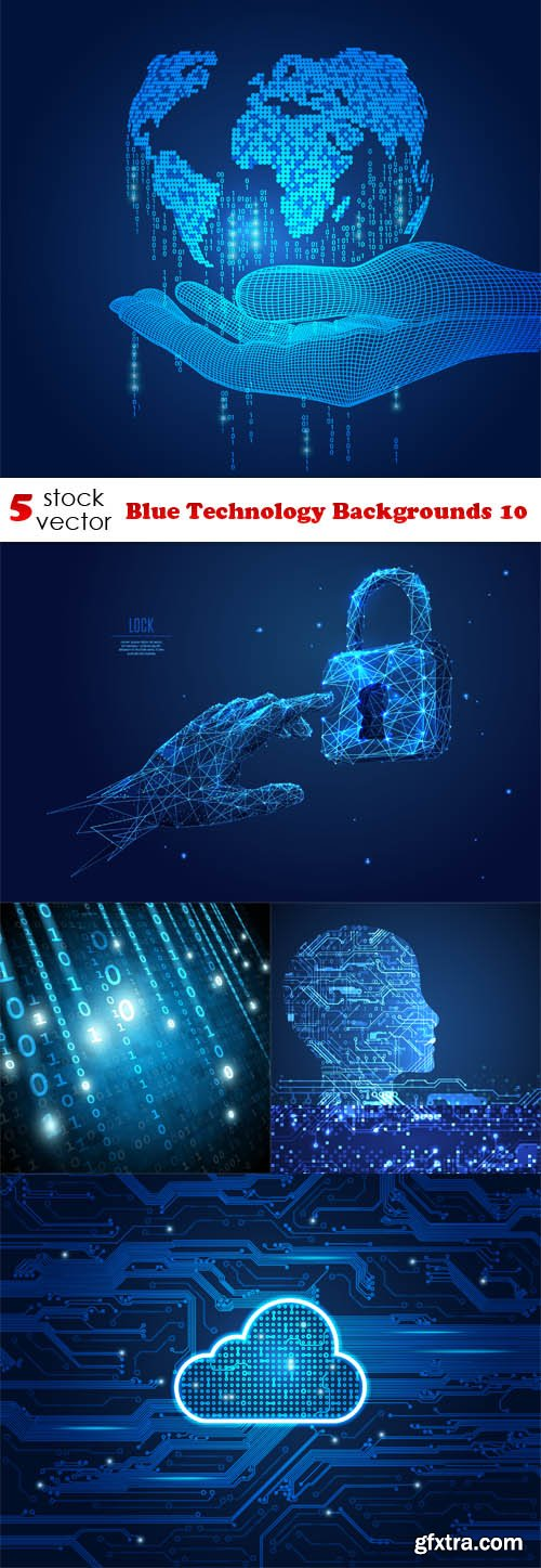 Vectors - Blue Technology Backgrounds 10