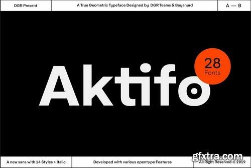 Aktifo Font Family