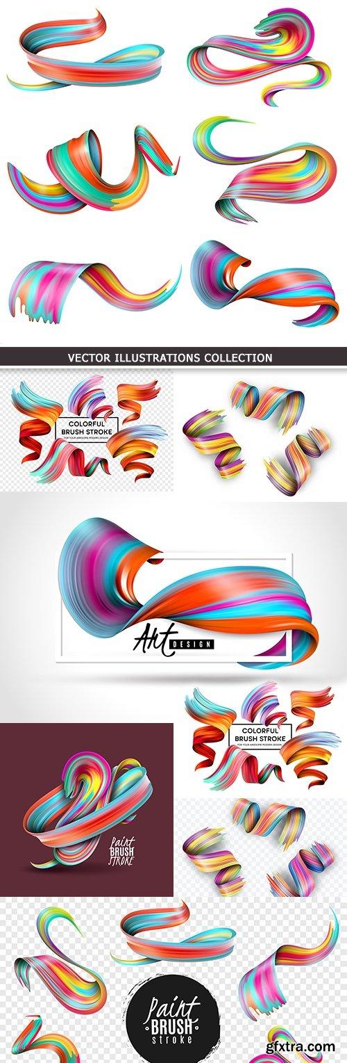 Creative colourful effect decorative brush stroke