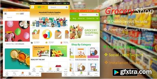 CodeCanyon - Android Ecommerce - GroceryShop App v1.0 - 21176656