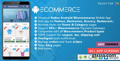 CodeCanyon - Android Woocommerce v1.5 - Universal Native Android Ecommerce / Store Full Mobile Application - 21952065