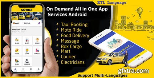 CodeCanyon - GoTaxi v1.0.3 - On Demand All in One App Services Android - 22612350