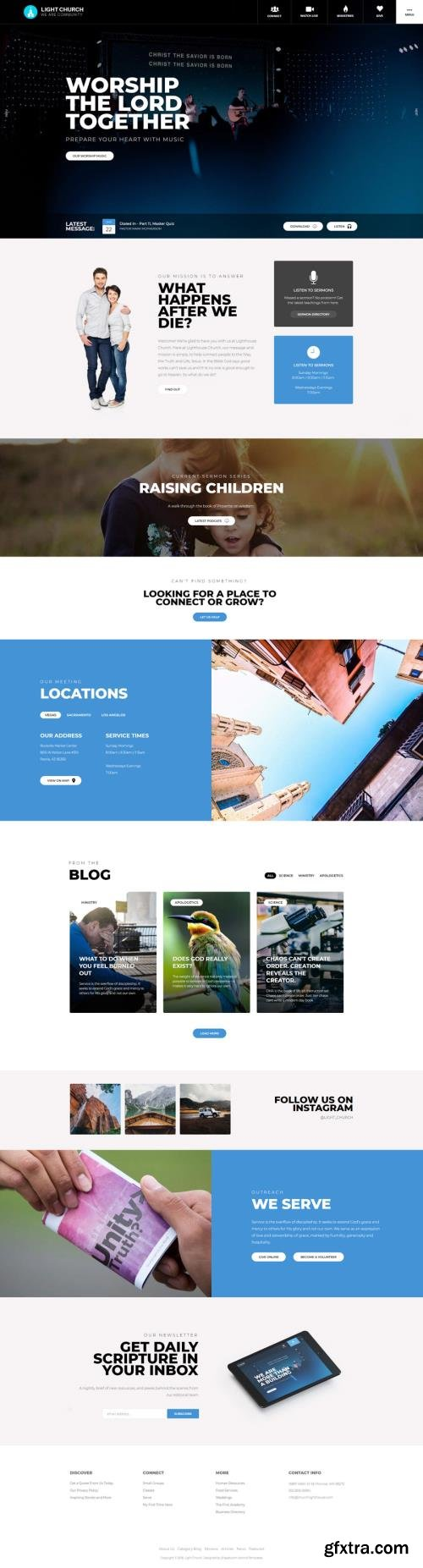 Shape5 - Light Church v1.0.4 - Joomla Template